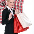 Portrait of a young woman with umbrella — Stock Photo #10023840