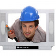 Stock Photo: I'm cable guy