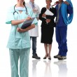 Nurse and other professions — Stock Photo