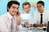 Businessmen in a training — Stockfoto