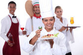 Staff of food and catering sector — Stok fotoğraf