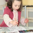 Little girl painting — Stock Photo #10086194