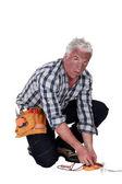 Technician who got an electrical shock — Stock Photo