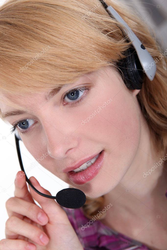 Woman in a headset  Stock Photo #10083471