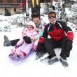 Stock Photo: Family on a skiing holiday