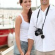 Tourist couple — Stock Photo