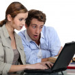 Two students have lost their course work — Stock Photo