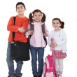Stock Photo: Kids going back to school.