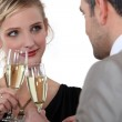 Couple drinking champagne — Stock Photo #10095186