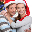 Young couple at Christmas — 图库照片