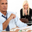 Male architect with female assistant — Stock Photo #10096060