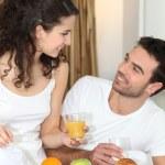 Couple having breakfast — Stock Photo #10098864