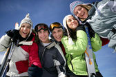 Teens in the snow — Stock Photo