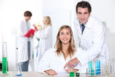 Science student in the lab — Stock Photo