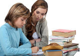 Algebra is not that hard with the right teacher. — Stock Photo