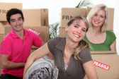 Young moving house — Stock Photo