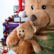 Teddy bears at Christmas — Stock Photo