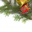 Christmas presents on a tree — Stock Photo