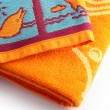 Neatly folder beach towels - Stock Photo