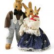 Hand-crafted wooden rabbits — Stock Photo #10101965