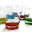 Stock Photo: Colorful glassware