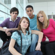 Teens at school — Stock Photo