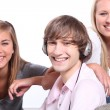 Stock Photo: Three teenagers