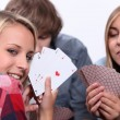 Stock Photo: Card game