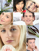Collage of relaxation — Stock Photo