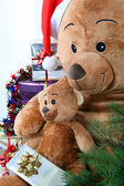 Teddy bears at Christmas — Foto Stock
