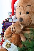 Ursinhos no natal — Foto Stock