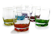 Colorful glassware — Stock Photo