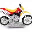 Stock Photo: Toy motocross bike