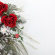 Winter bouquet of flowers — Stock Photo