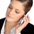 Businesswoman talking on her cell — Stock Photo #10118818