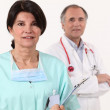 Close-up of a nurse and a surgeon — Stock Photo #10121247