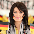 Brunette Germany supporter — Stock Photo #10121312