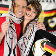 Couple supporting Germany team — Stock Photo