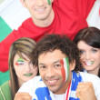Italy supporters — Stock Photo