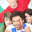 Stock Photo: Italy supporters