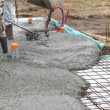 Laying a cement floor — Foto Stock