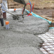 Stock Photo: Laying cement floor
