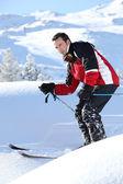 Man skiing — Stock Photo