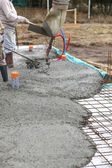 Laying a cement floor — Stock Photo