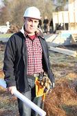 Bir inşaat işçisi — Stok fotoğraf