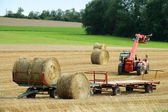 Baling hay — Stock Photo