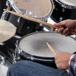 Stock Photo: Mplaying drums