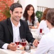Couple in restaurant — Stock Photo #10154600