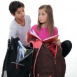 Boy and girl doing their homework after school — Stock Photo #10156198