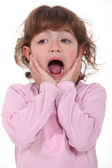 Little girl screaming — Stock Photo